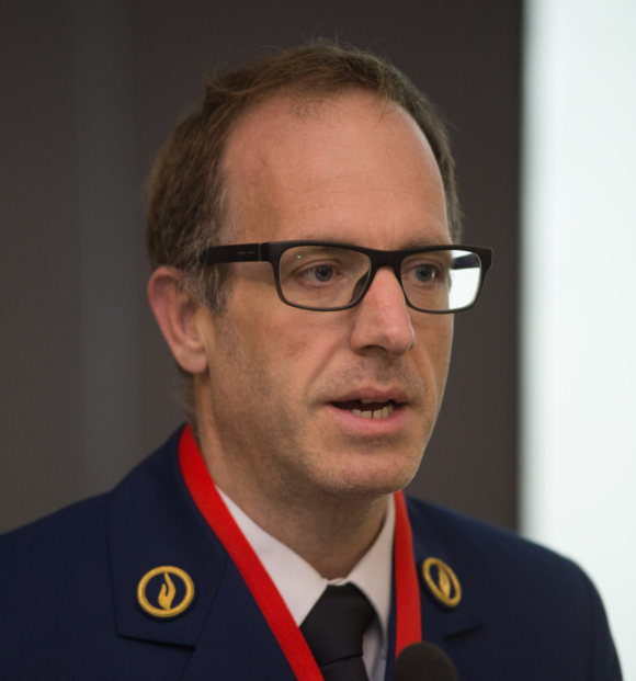 Gerry Peeters, commissaris bij Wegpolitie Limburg